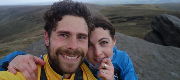 Anna and Mark on Kinder Scout